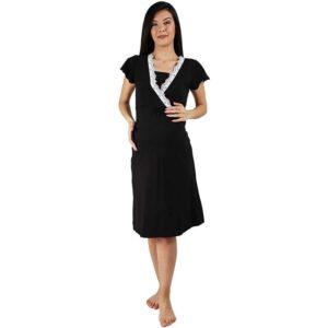 Camasa noapte gravide, neagra