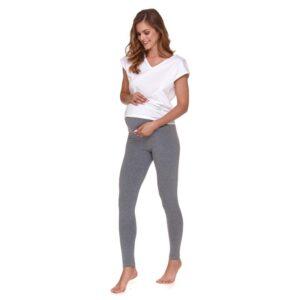 Colanti gravide pentru sarcina sau chiar si dupa, din bumbac, cu bata peste burtica, de culoare gri inchis, Doctor Nap